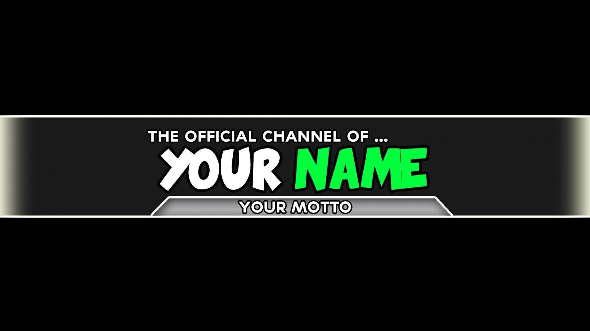 005 Incredible Channel Art Template Photoshop High Definition  Roblox Youtube Cc1920
