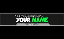 005 Incredible Channel Art Template Photoshop High Definition  Roblox Youtube Cc