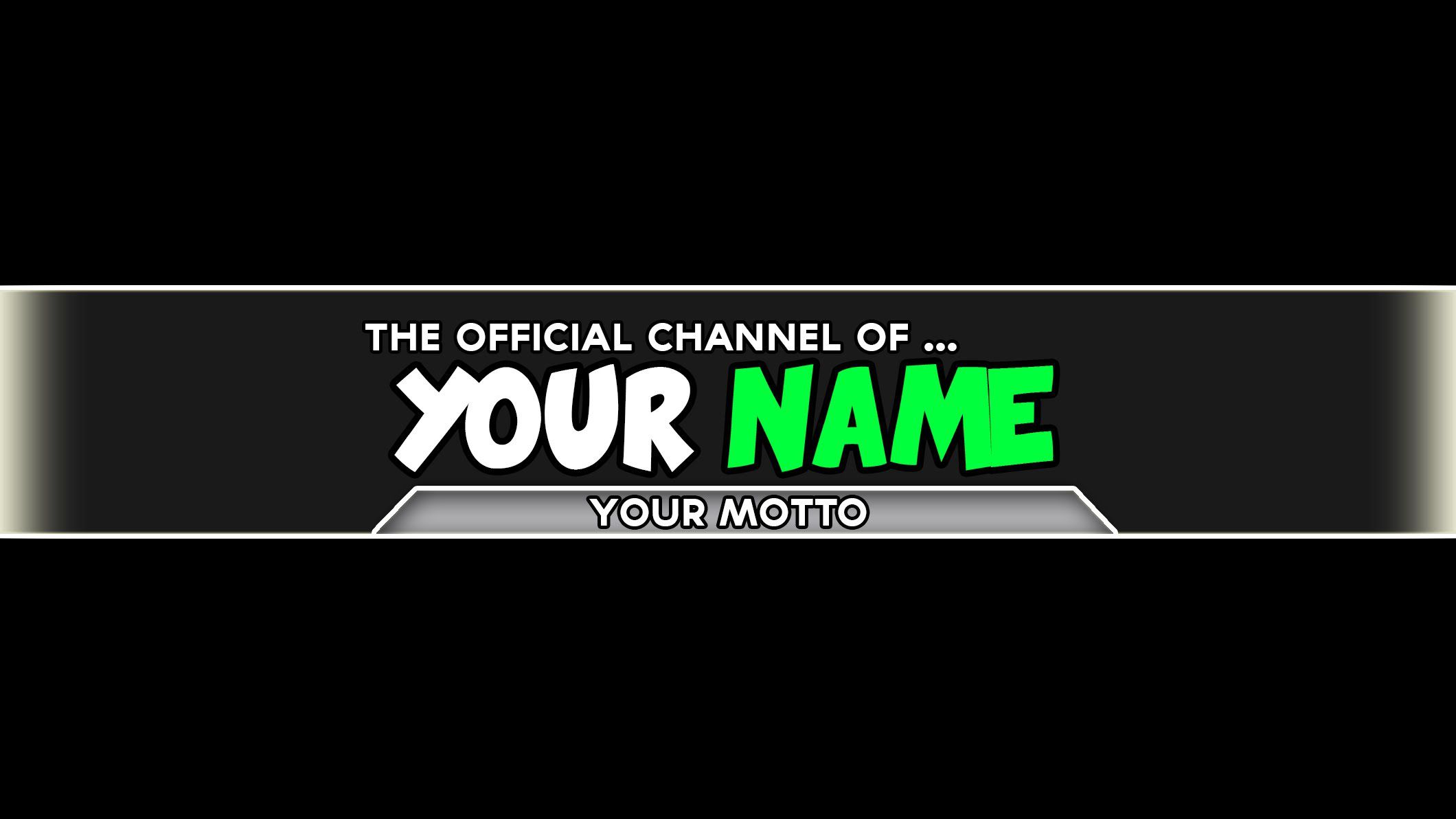 005 Incredible Channel Art Template Photoshop High Definition  Roblox Youtube CcFull