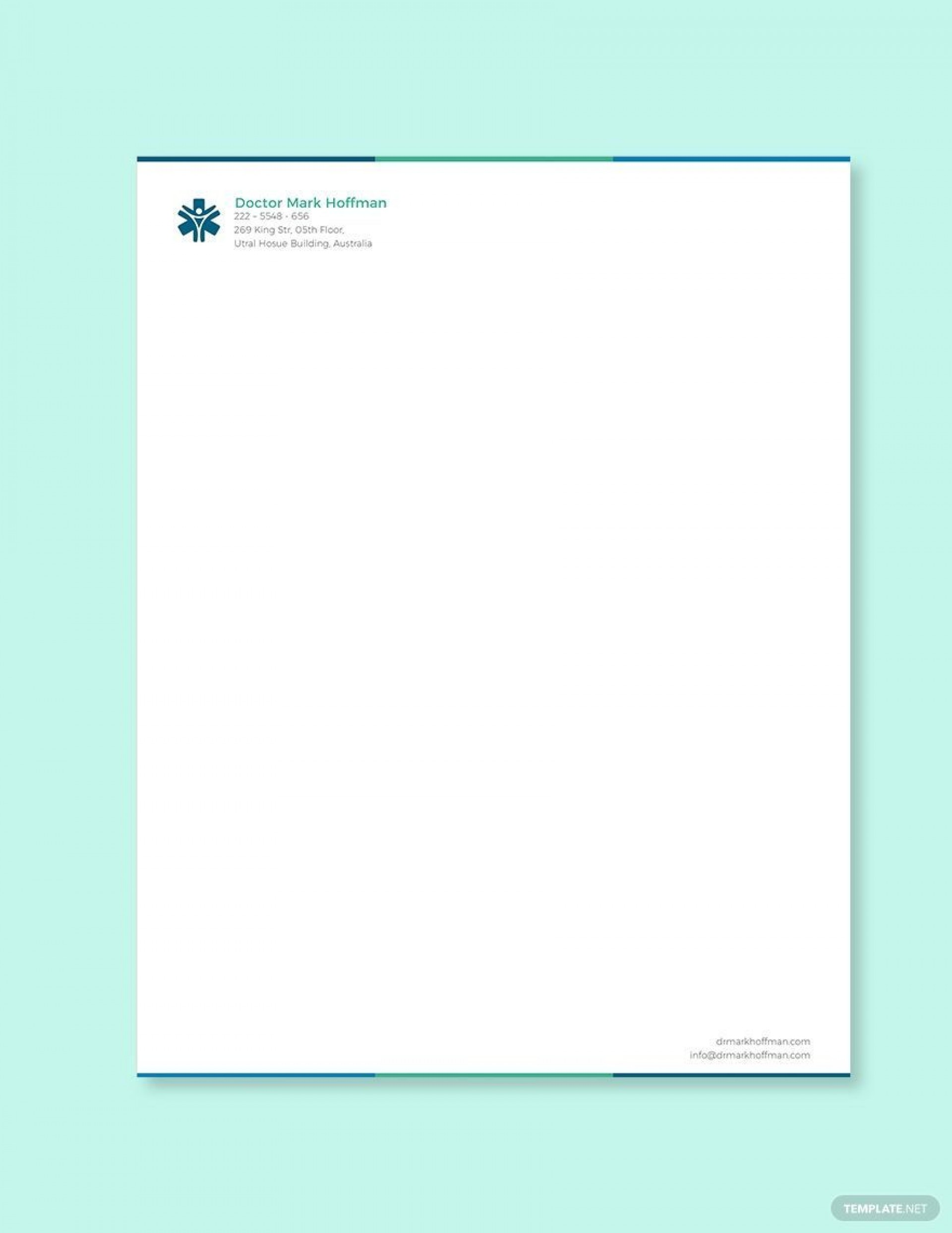 005 Incredible Doctor Letterhead Format In Word Free Download Inspiration  Design1920