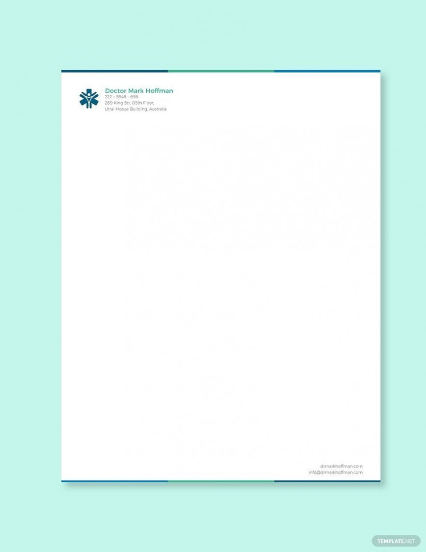 005 Incredible Doctor Letterhead Format In Word Free Download Inspiration  Design