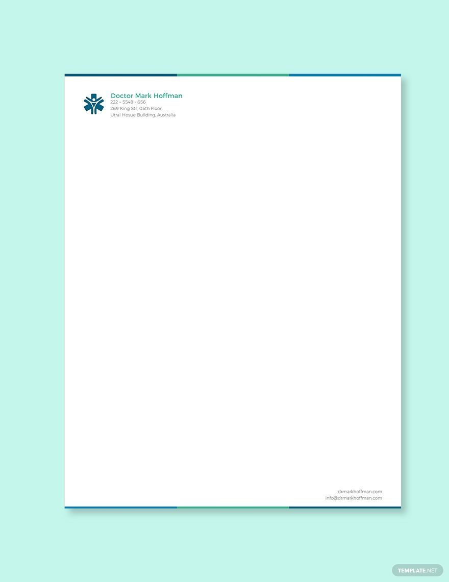 005 Incredible Doctor Letterhead Format In Word Free Download Inspiration  DesignFull