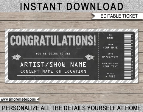 005 Incredible Editable Ticket Template Free High Resolution  Concert Word Irctc Format Download Movie480