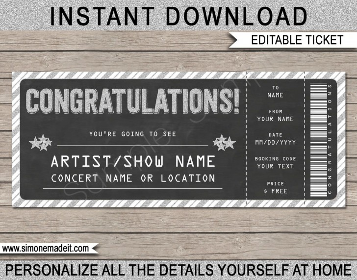 005 Incredible Editable Ticket Template Free High Resolution  Concert Word Irctc Format Download Movie728