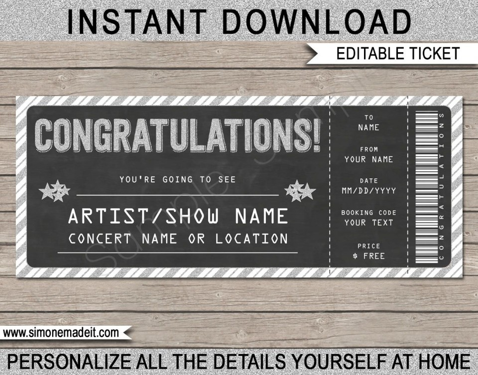 005 Incredible Editable Ticket Template Free High Resolution  Concert Word Irctc Format Download Movie960