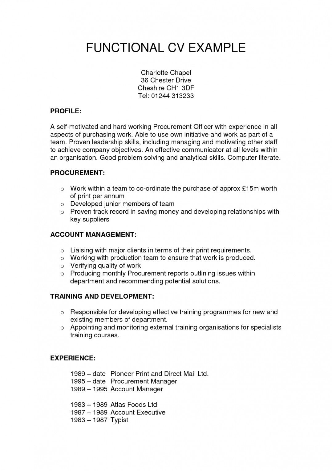 005 Incredible Functional Resume Template Free High Definition Full