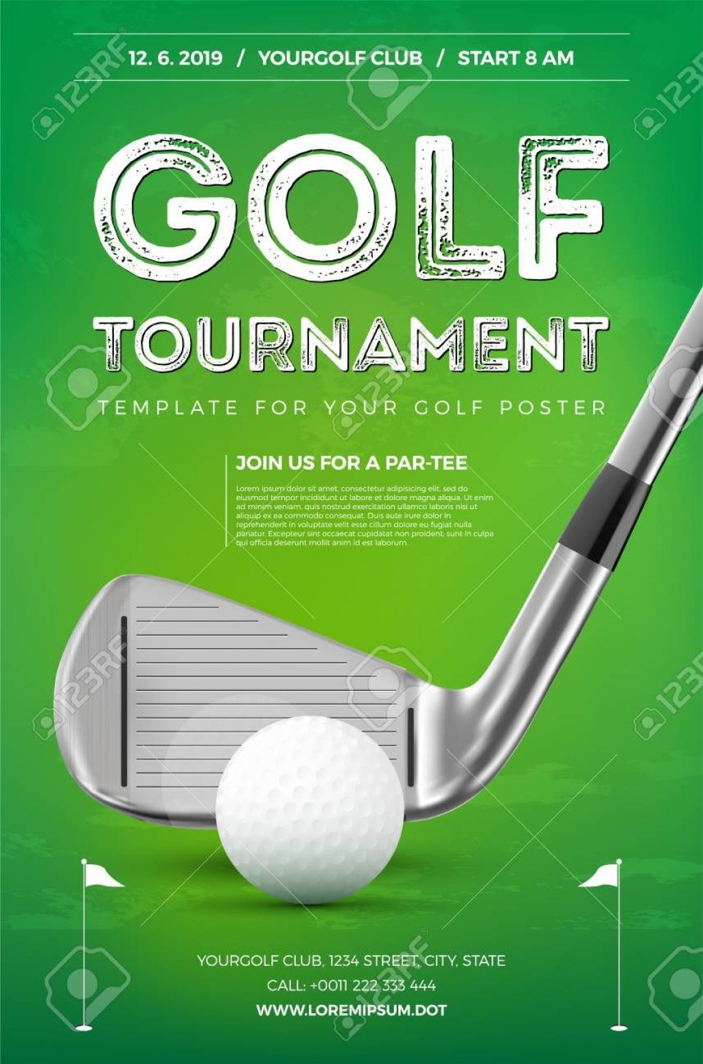 005 Incredible Golf Tournament Flyer Template Highest Clarity  Word Free PdfLarge
