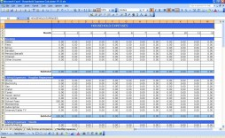 005 Incredible Personal Expense Spreadsheet Excel Template Sample  Monthly Budget