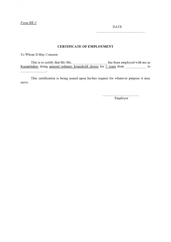 005 Incredible Proof Of Employment Letter Template Canada Design  Confirmation728