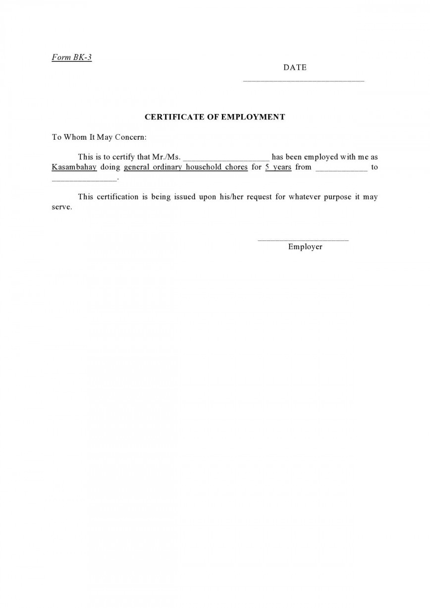005 Incredible Proof Of Employment Letter Template Canada Design  Confirmation868