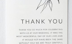 005 Incredible Thank You Card Template Wedding High Definition  Free Printable Publisher