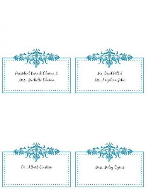 005 Incredible Wedding Name Card Template Highest Clarity  Seating Chart Place Free480