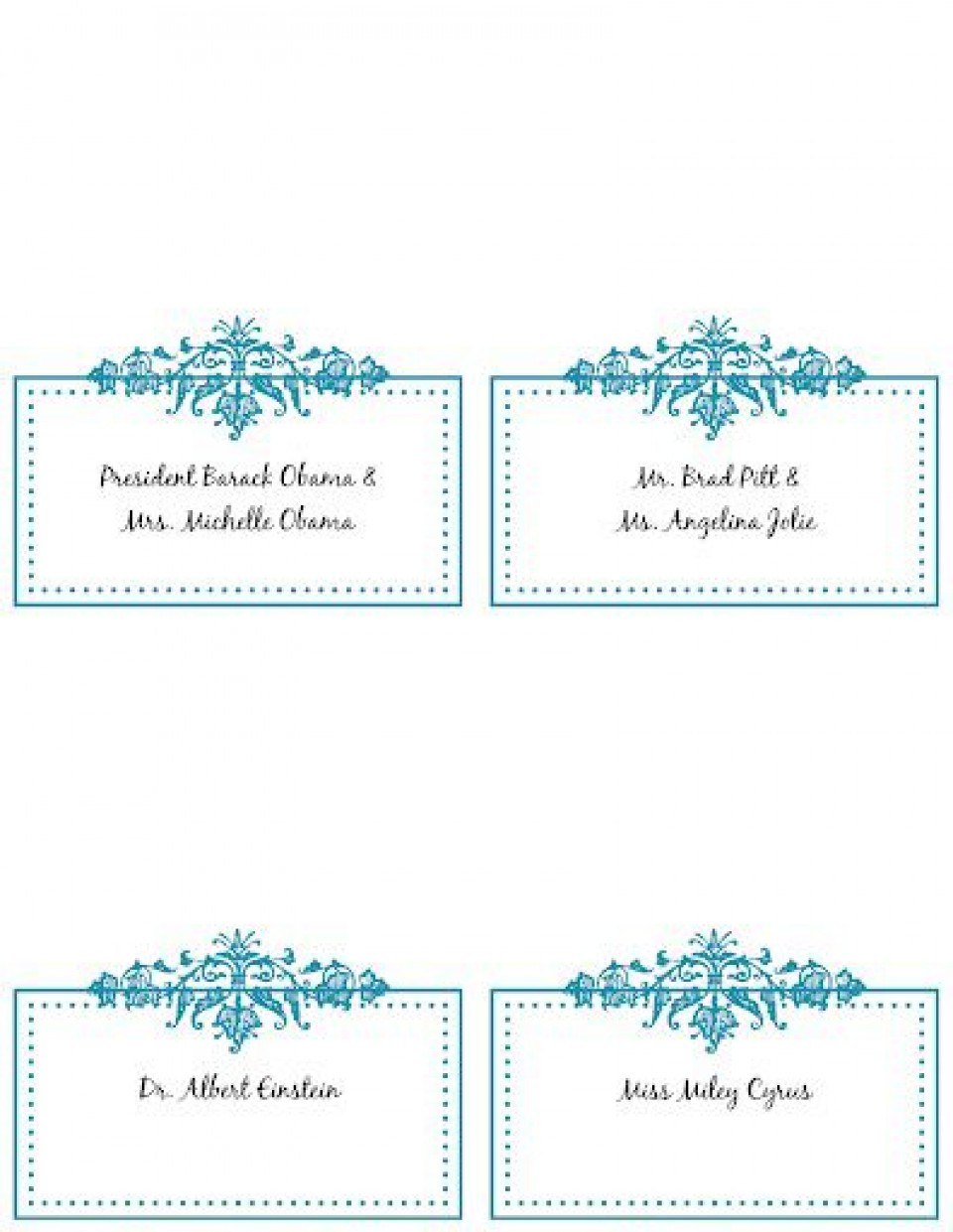005 Incredible Wedding Name Card Template Highest Clarity  Seating Chart Place Free960