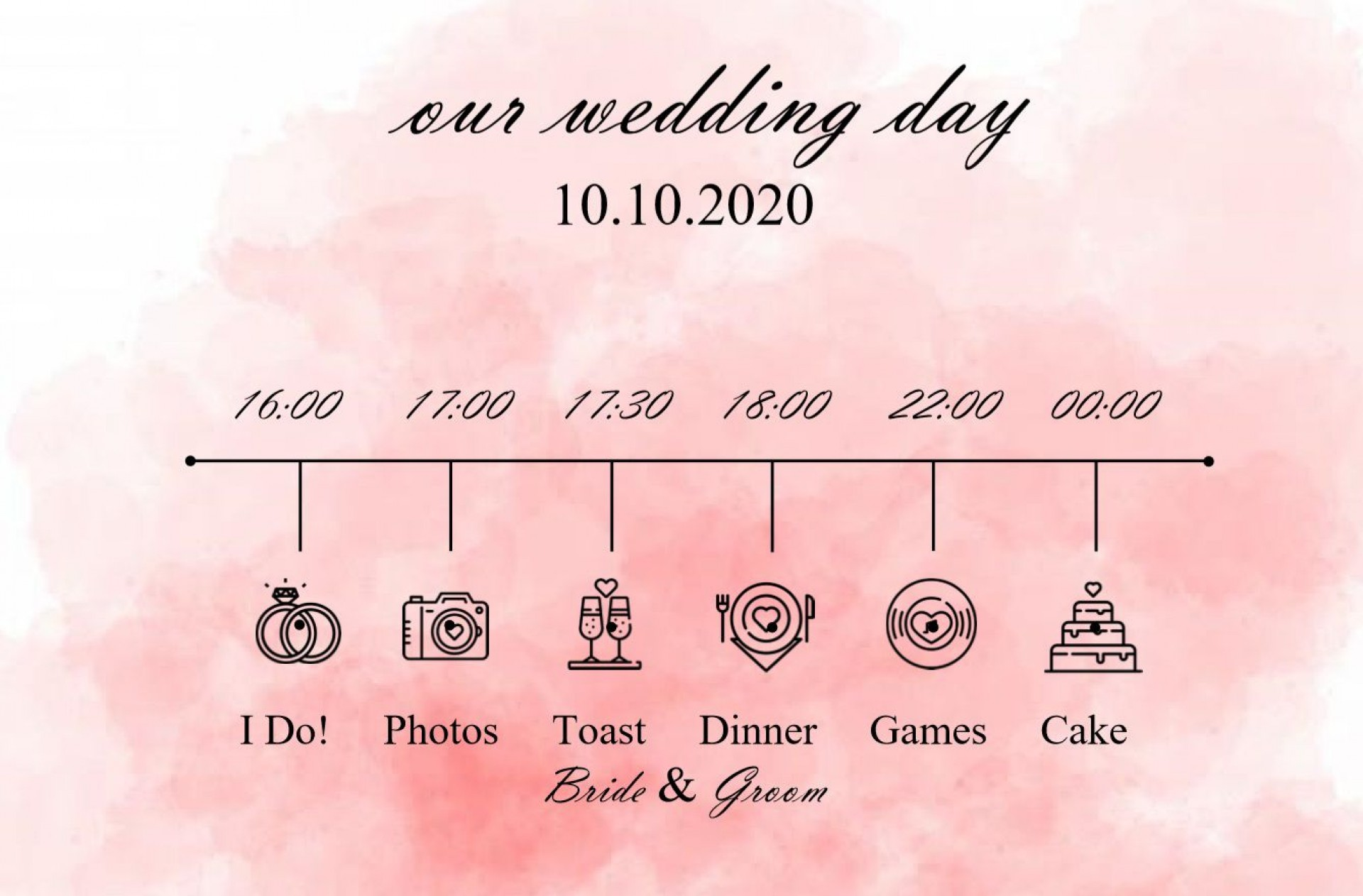 005 Incredible Wedding Timeline Template Free Concept  Day Excel Program1920