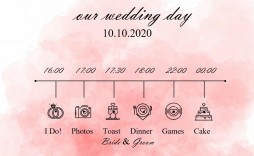005 Incredible Wedding Timeline Template Free Concept  Day Download For Guest Pdf