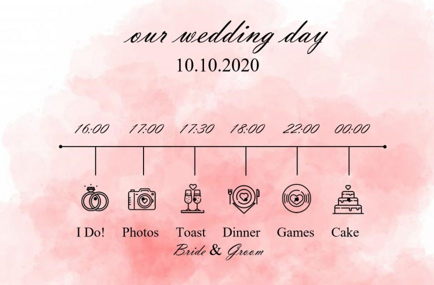 005 Incredible Wedding Timeline Template Free Concept  Day Excel Program868