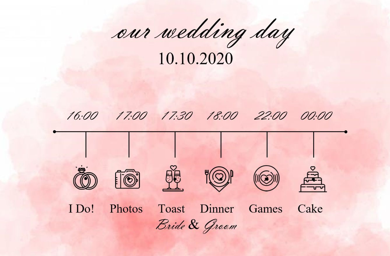 005 Incredible Wedding Timeline Template Free Concept  Day Excel ProgramFull