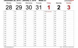 005 Incredible Week Calendar Template Excel Highest Quality  52 2019 2020 Free Weekly Appointment