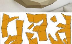 005 Magnificent 3d Paper Art Template Picture  Templates Pdf