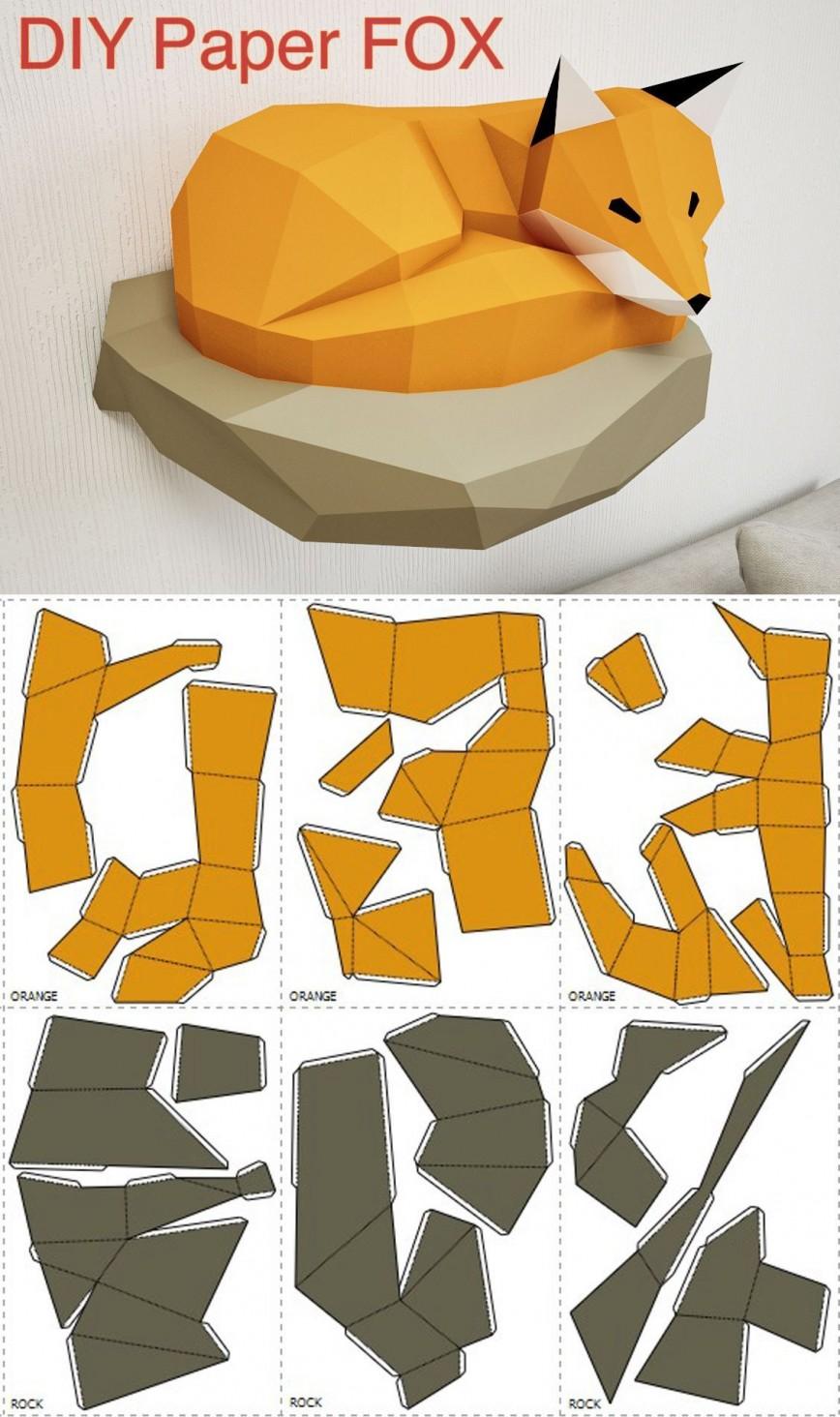 005 Magnificent 3d Paper Art Template Picture  Templates Pdf Free