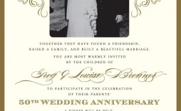 005 Magnificent 50th Wedding Anniversary Invitation Sample Picture  Samples Free Party Template Card Idea