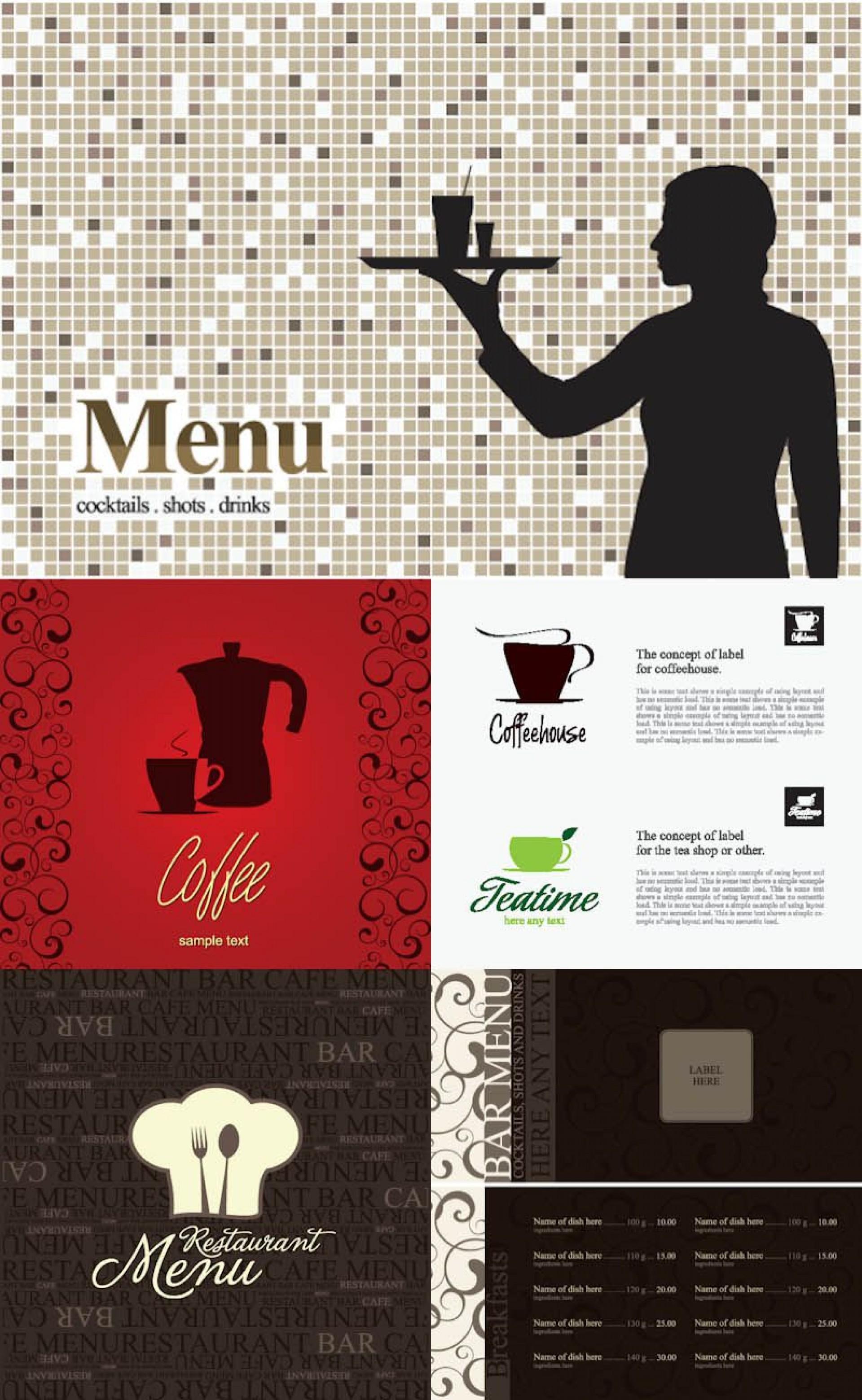 005 Magnificent Bar Menu Template Free Design  Download Snack1920