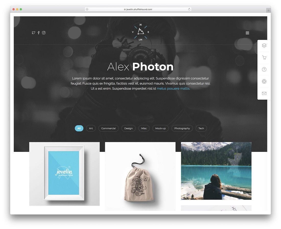 005 Magnificent Bootstrap Portfolio Template Free Photo  Download Website 4Full