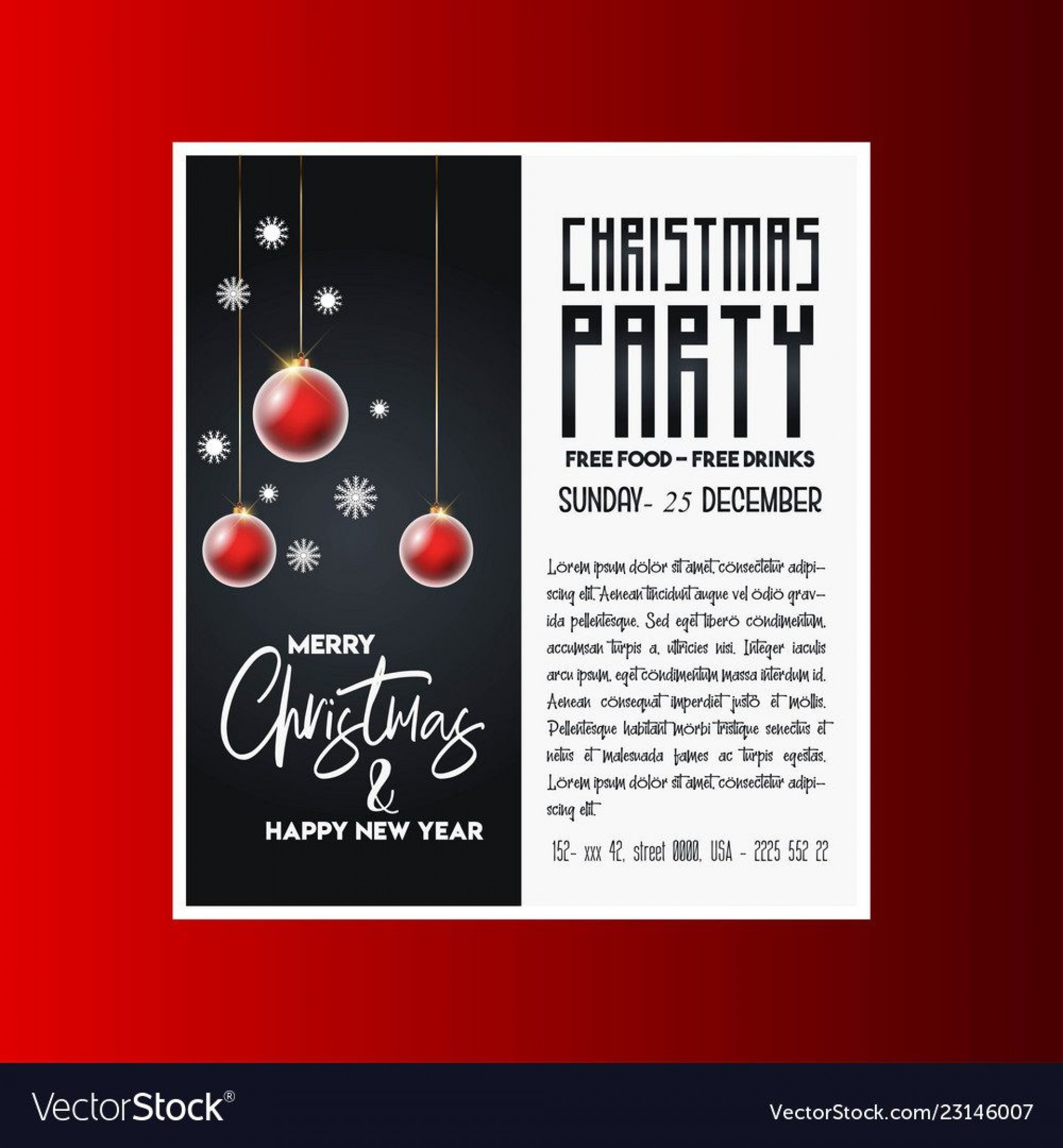 005 Magnificent Christma Party Flyer Template Free Highest Quality  Company Invitation Printable Word1920