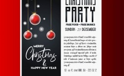 005 Magnificent Christma Party Flyer Template Free Highest Quality  Company Invitation Printable Word