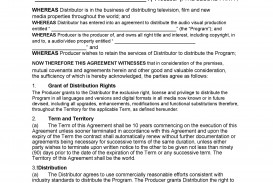 005 Magnificent Distribution Agreement Template Word High Definition  Distributor Exclusive Contract