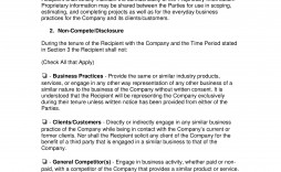005 Magnificent Employee Non Compete Agreement Template Image  Free Disclosure Confidentiality Non-compete