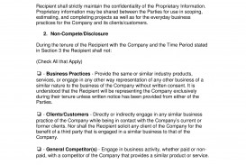 005 Magnificent Employee Non Compete Agreement Template Image  Free Confidentiality Non-compete Disclosure