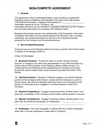 005 Magnificent Employee Non Compete Agreement Template Image  Free Confidentiality Non-compete Disclosure320