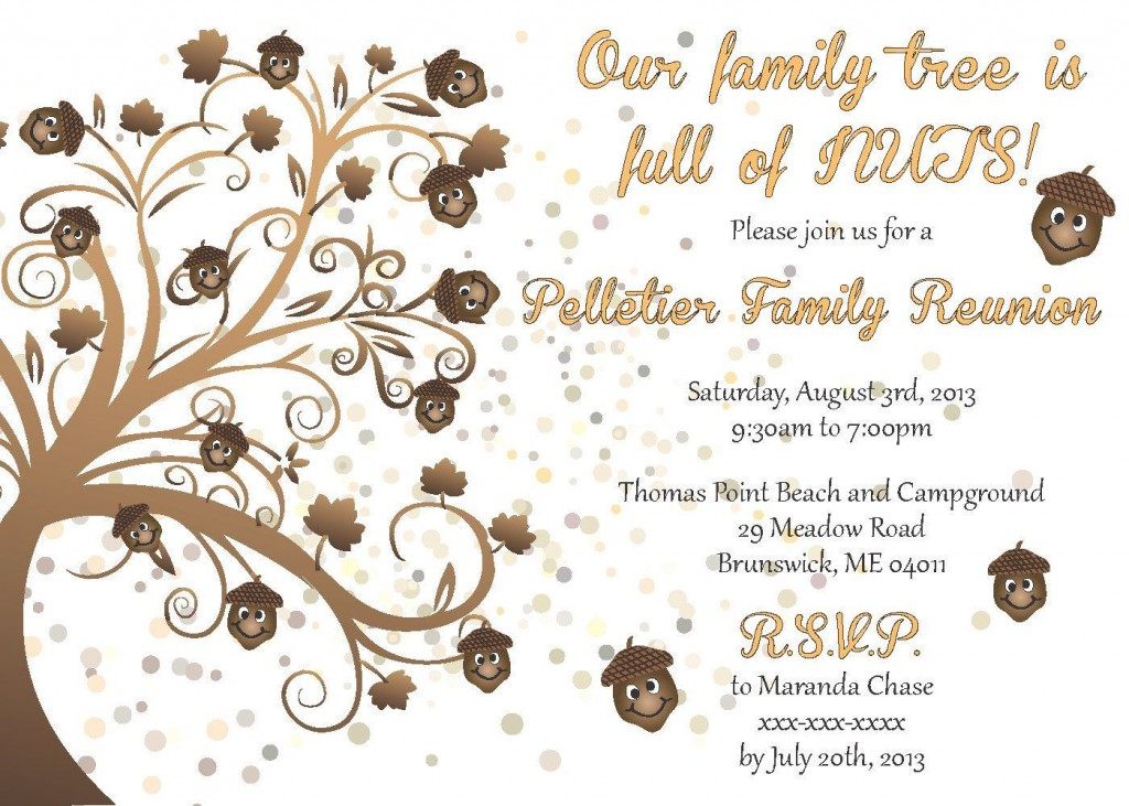 005 Magnificent Family Reunion Invitation Card Template Design Large