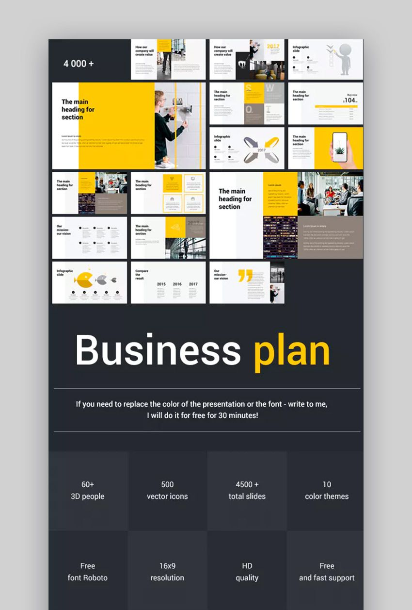 005 Magnificent Free Busines Plan Template Ppt High Def  2020 Download Startup 30 60 90Full