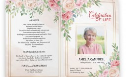 005 Magnificent Free Printable Celebration Of Life Program Template Highest Quality