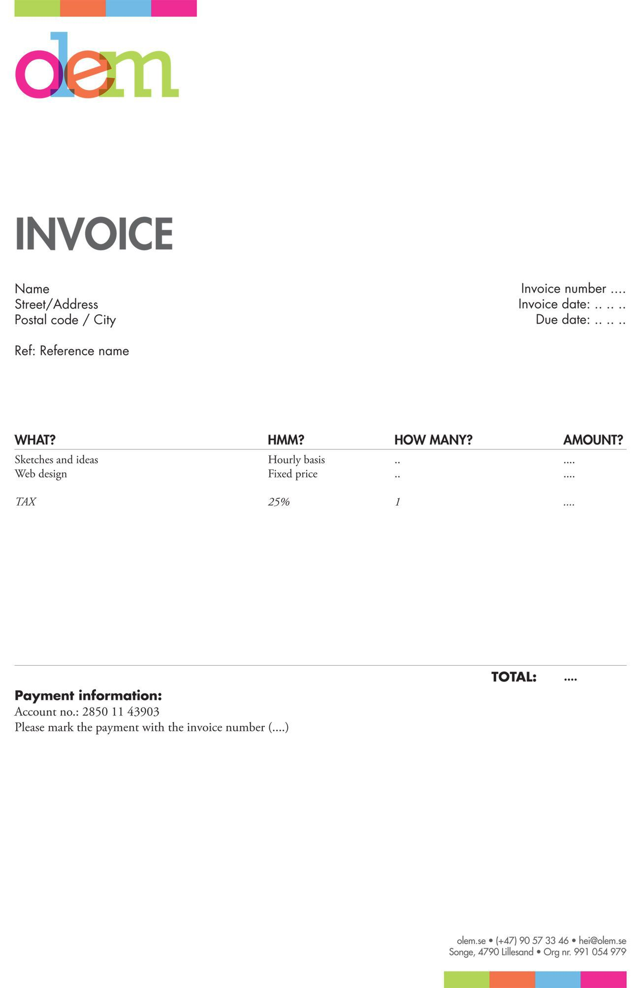 005 Magnificent Freelance Creative Invoice Template Sample  Graphic Designer Uk SimpleFull