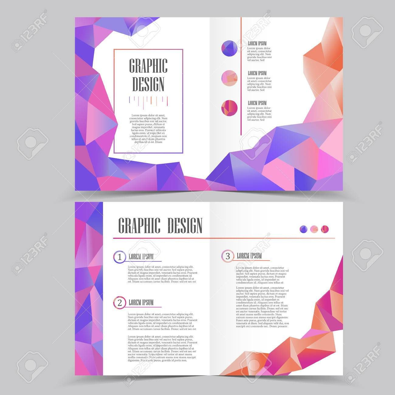 005 Magnificent Half Fold Brochure Template High Resolution  Free Microsoft Word IndesignFull