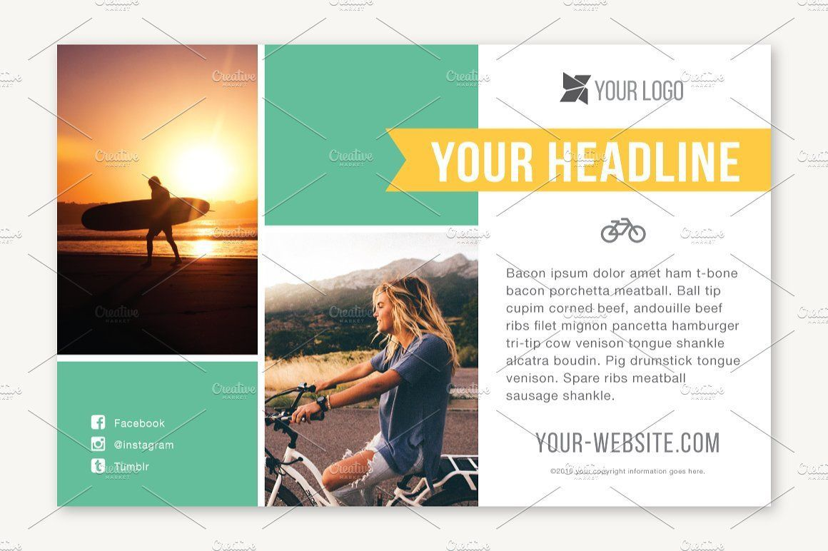 005 Magnificent Half Page Flyer Template Sample  Templates Google Doc Free Word CanvaFull