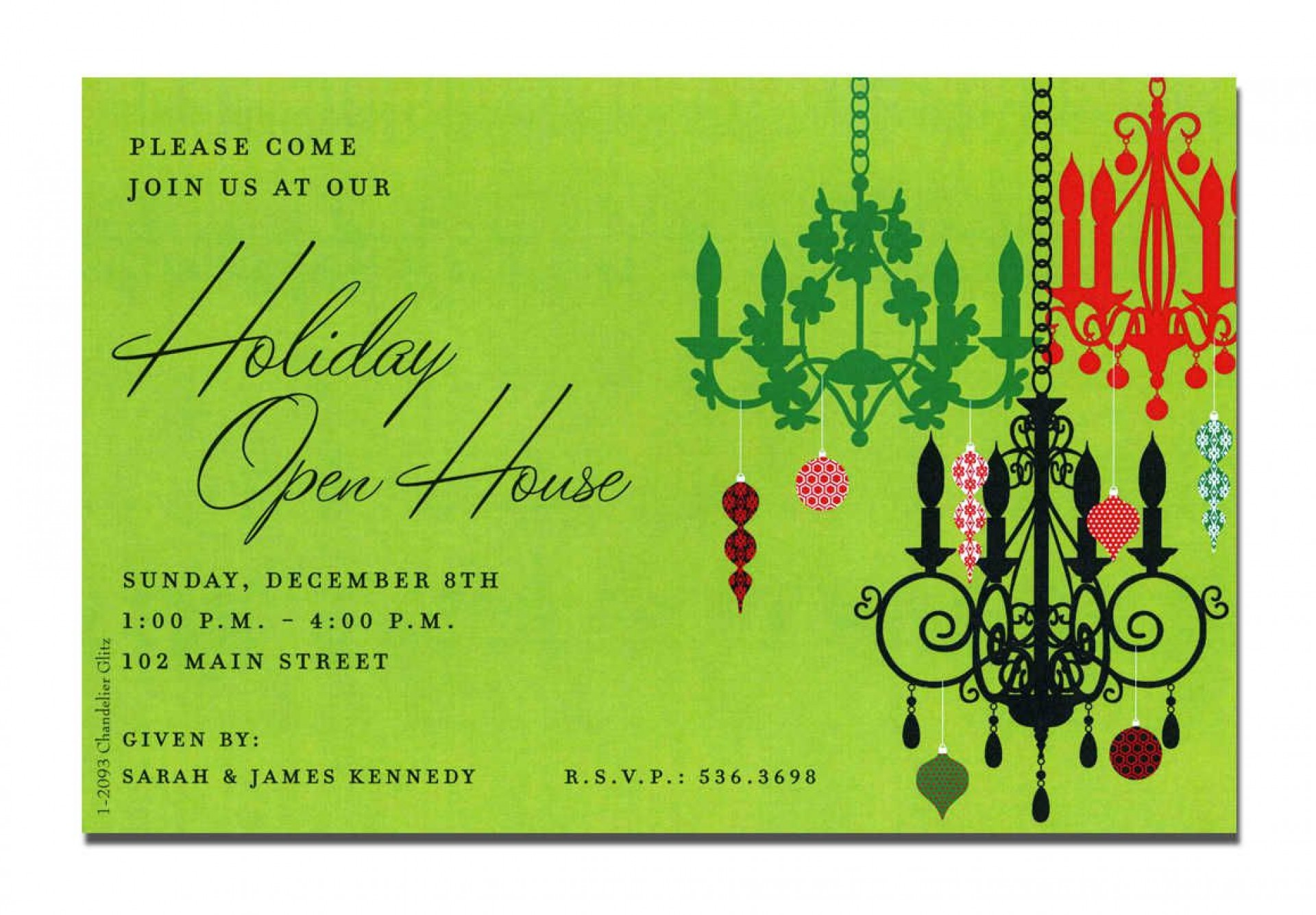 005 Magnificent Holiday Open House Invitation Template Image  Christma Free Printable Wording Idea1920