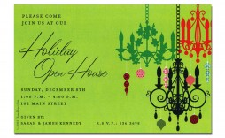 005 Magnificent Holiday Open House Invitation Template Image  Christma Free Printable Wording Idea