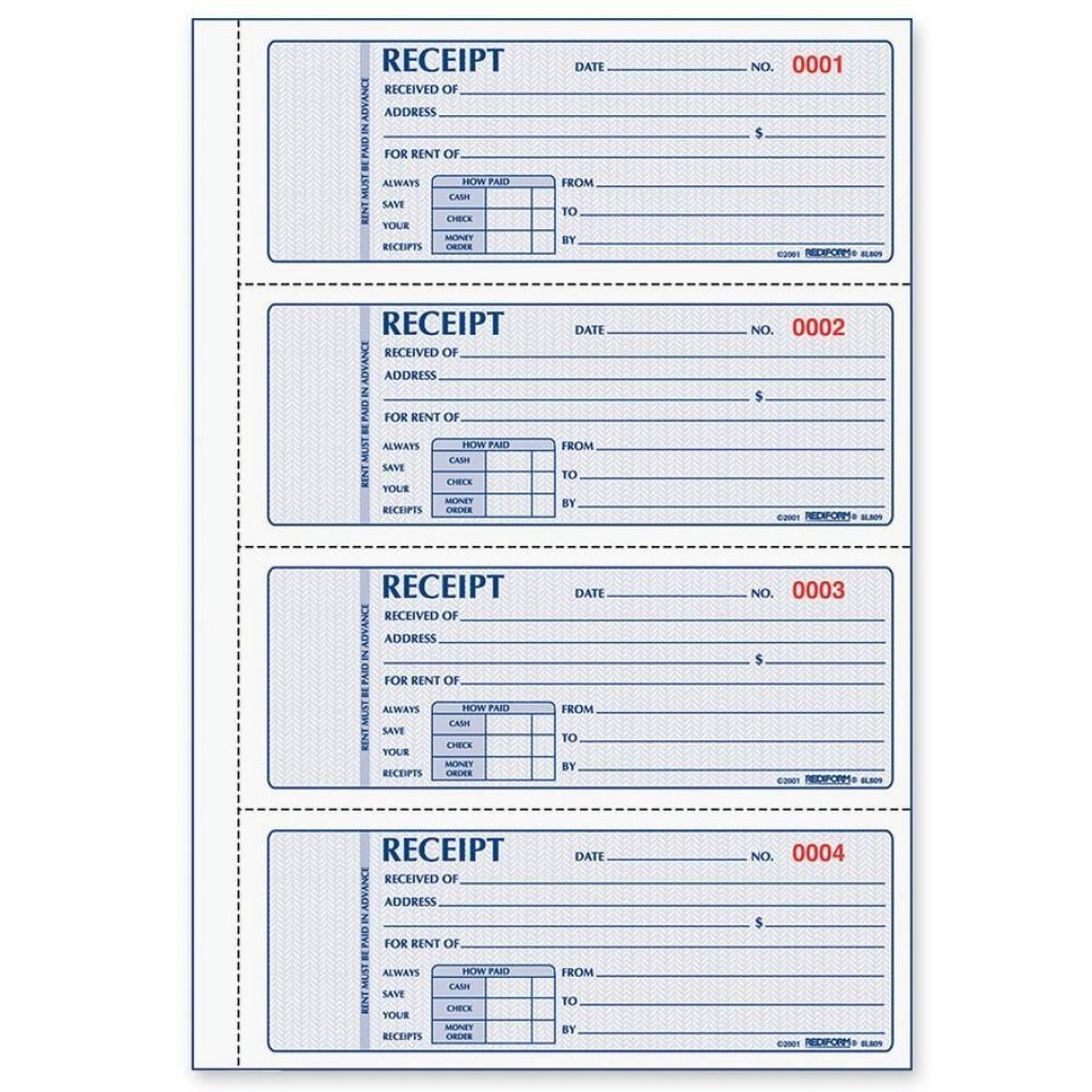 005 Magnificent House Rent Receipt Template India Doc Image  Format DownloadLarge