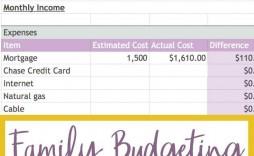 005 Magnificent Line Item Budget Template Excel Concept
