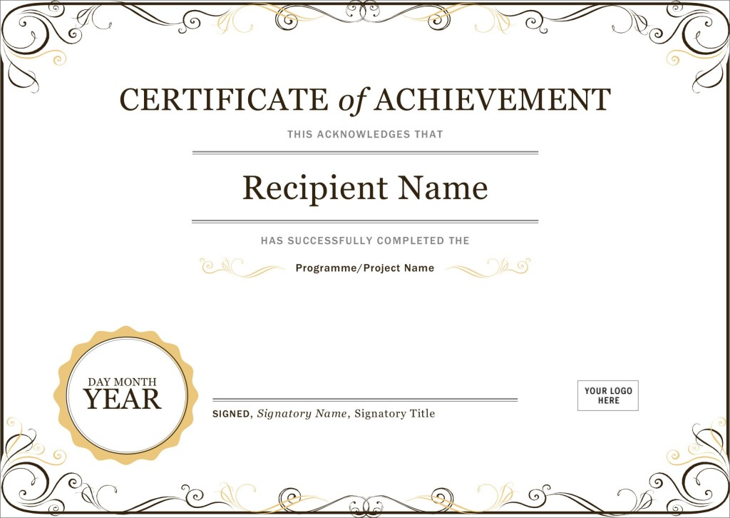 005 Magnificent Microsoft Word Certificate Template High Def  2003 Award M Appreciation Of AuthenticityLarge