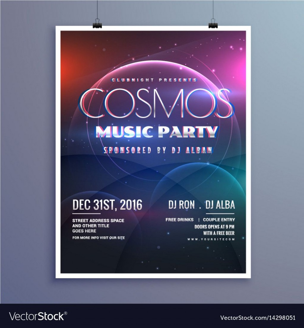 005 Magnificent Party Event Flyer Template Free Download Design Large
