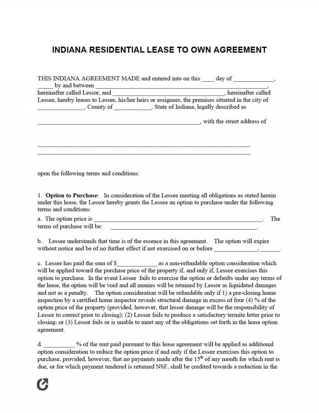 005 Magnificent Rent To Own Agreement Template Concept  Free Contract Canada South Africa PdfLarge