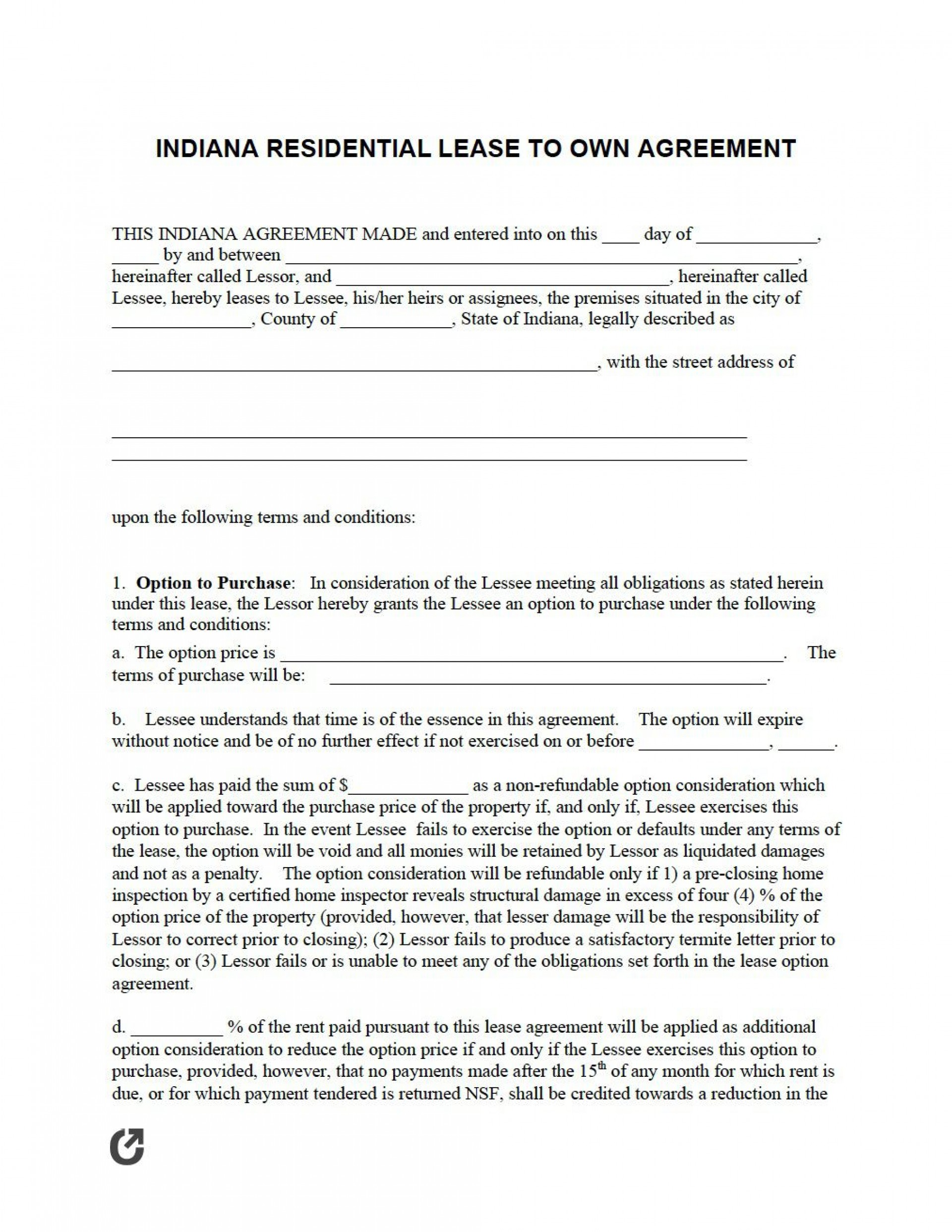 005 Magnificent Rent To Own Agreement Template Concept  Free Contract Canada South Africa Pdf1920