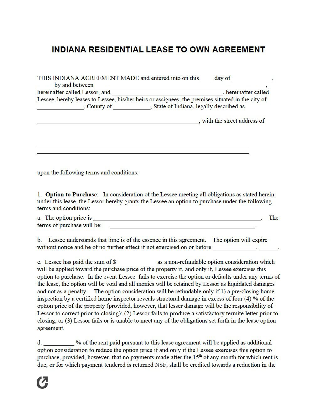 005 Magnificent Rent To Own Agreement Template Concept  Free Contract Canada South Africa PdfFull