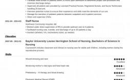 005 Magnificent Resume Template For Nurse Sample  Nurses Free Download Practitioner Best