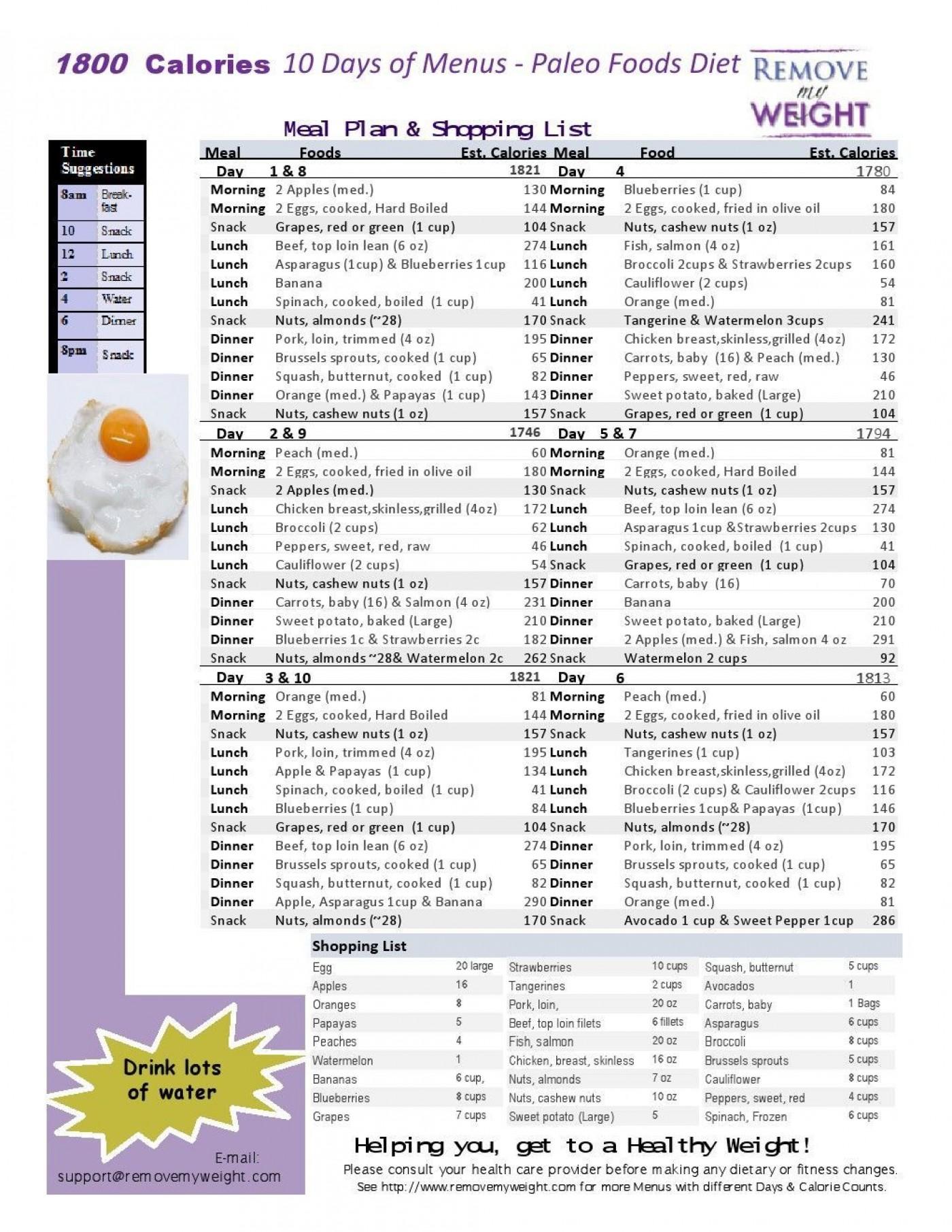 005 Magnificent Sample 1800 Calorie Meal Plan Pdf Photo 1400